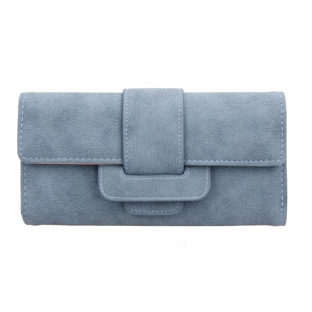 2017 New Fashion Women Wallets Long Soft PU Leather Wallet Matte Suede Wallets Big Capacity Hasp Wallet Card Holder Coin Purse