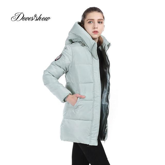 740c90a3bb00 Women Winter Jacket Hooded Cotton-Padded Wadded Jacket Warm Long Down  Jacket Plus Size Slim Women Basic Coat Female Outwear 3XL
