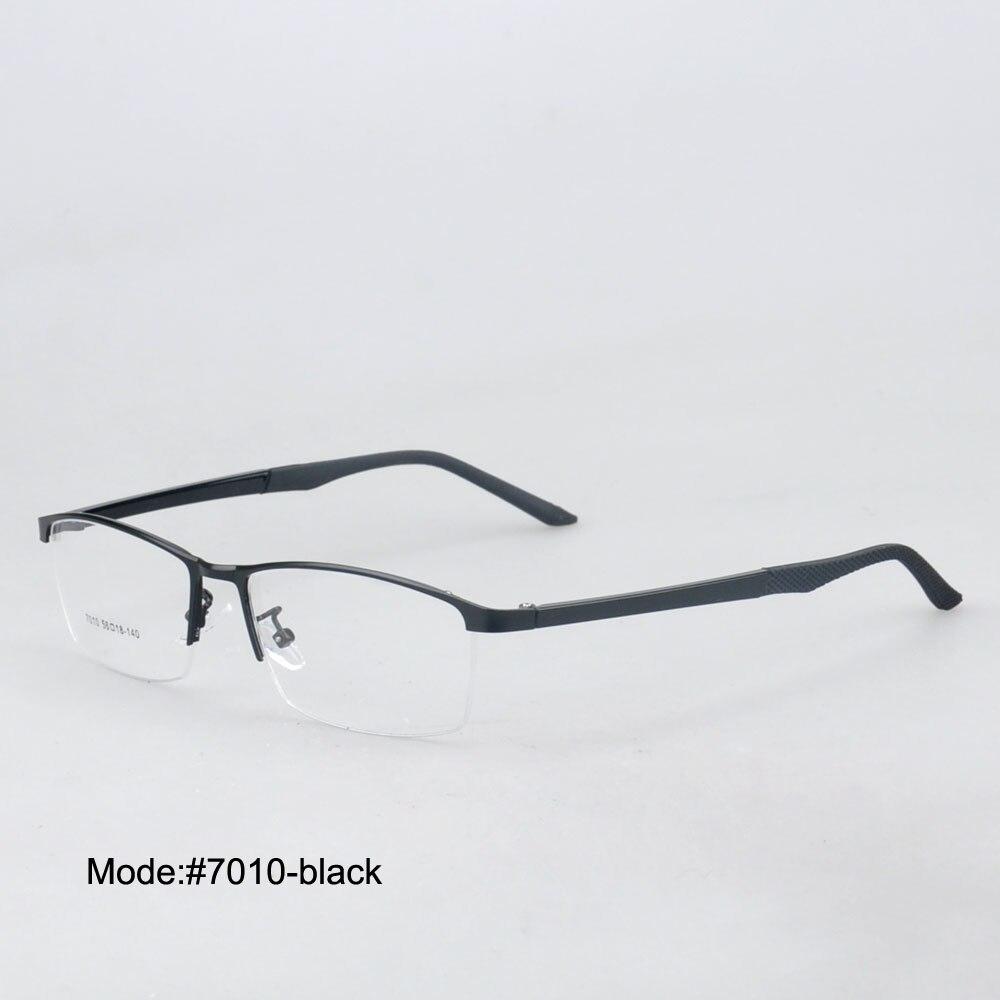 Nuevos 7010 hombres del estilo medio borde marcos ópticos miopía ...