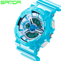 2016 SANDA Brand New Men G Style Watch LED Digital Watch Women Fashion Watch Multifunction Army