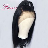 180% Density Straight Lace Front Wigs Brazilian Remy Human Hair Front Lace Wigs For Black Women With Baby Hair Pre Plucked Favor