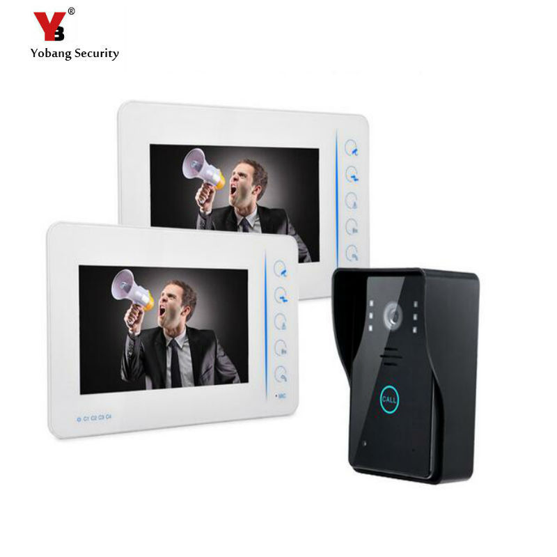 Yobang Security 7inch Video Intercom With Security Camera Door Viewer Wired Video Doorbellphone Wired Intercom For Private House