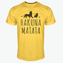 Summer 2018 Cotton T-Shirts HAKUNA MATATA Men's Big Size T Shirts Short Sleeve Slim Fit