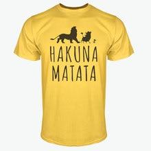 Summer 2017 Cotton T-Shirts HAKUNA MATATA Men's Big Size T Shirts Short Sleeve Slim Fit Fashion Tops & Tees Male Clothing XXXL
