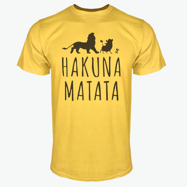 Summer 2017 Cotton T-Shirts HAKUNA MATATA Men's Big Size T Shirts Short Sleeve Slim Fit Fashion Tops & Tees Male Clothing XXXL