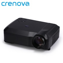 Crenova XPE650 Presentación de Vídeo Proyector Casero 1080 P 120 Pulgadas de Pantalla soporte HDMI VGA AV USB SD TV de entrada para el Hogar cine