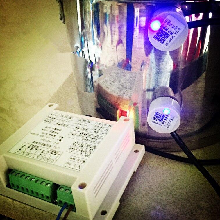 En Acier inoxydable Baril 2-8mm Haute et faible Contrôle De niveau de liquide À Ultrasons Non-contacter liquide niveau commutateur Capteur