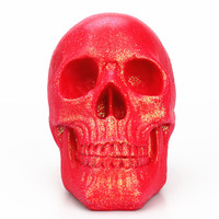 Human Horror Resin Skull Head Red Skulls Skeletons Craft for Home Table Party Halloween Decorations Ornaments Statues Sculptures