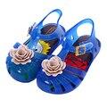 2017 Summer Mini Melissa Jelly Sandals For Baby Girls Kids Flatform Children Cartoon FlowersBeach Shoes Infantil Sandals