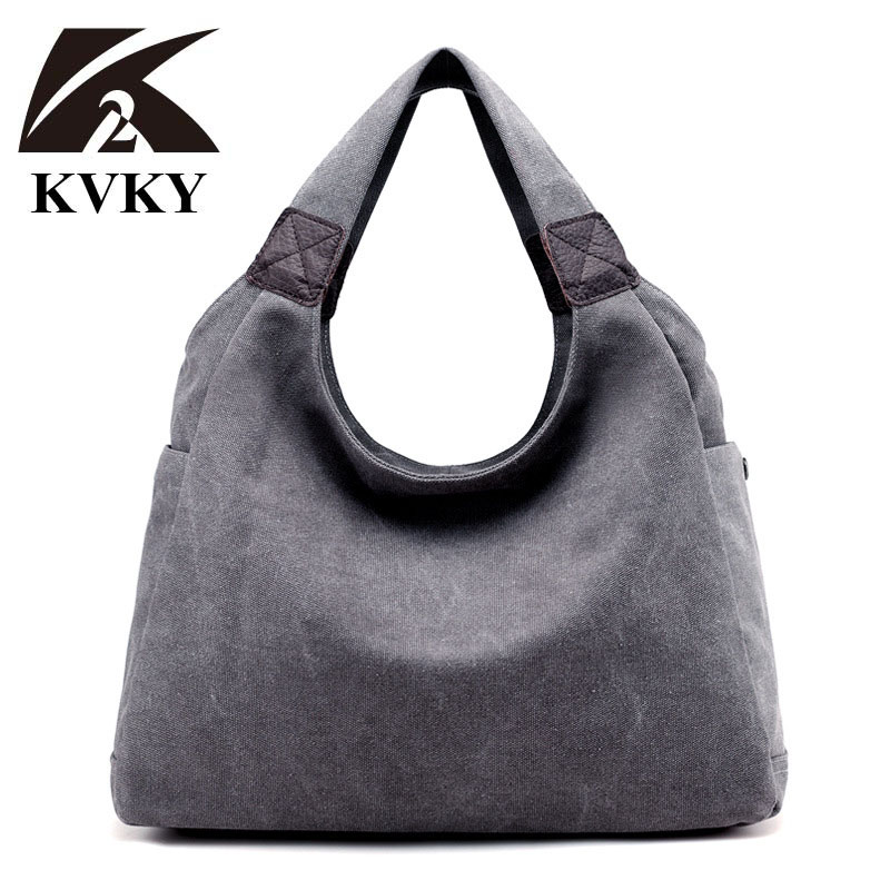 KVKY Fashion Women Canvas Bags Woman Casual Shoulder Tote Bag Famous Brand Female Bags Bolso Ladies Crossbody Bag bolsa feminina feral cat famous designer brand small woman bag clutch pvc crossbody bags for women ladies hand bags mother dumpling bolso mujer