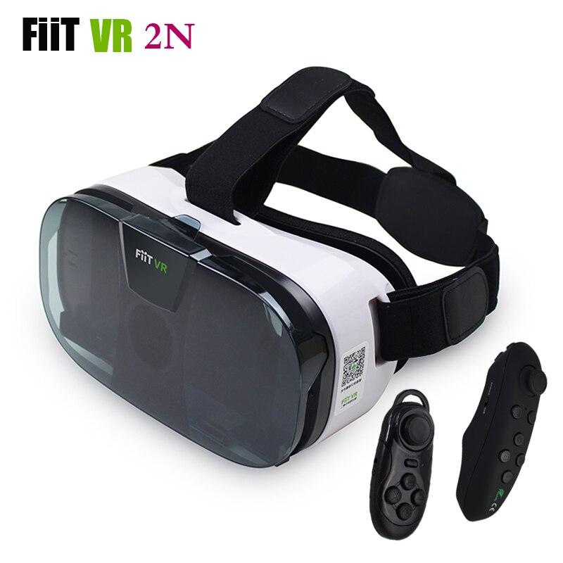 FIIT 2N <font><b>VR</b></font> Glasses <font><b>Headset</b></font> 3D <font><b>Box</b></font> <font><b>Virtual</b></font> <font><b>Reality</b></font> Goggles Mobile 3D <font><b>Video</b></font> Helmet for 4.0-6.5 Phone+Smart Bluetooth Controller