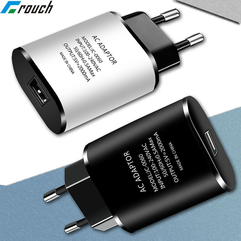 Universal USB Charger 5V 2A eu plug wall travel charger adapter for iphone samsung huawei xiaomi LG Mobile phone chargers Tablet