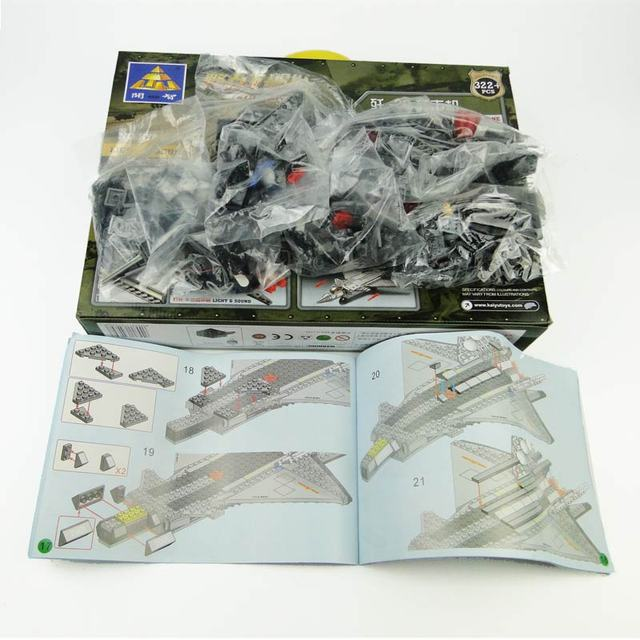 With Original Box Kids Toys Building Blocks Kazi Air Military Equipment J20 Stealth Fighter Plane Models Miniature For Boys Gift