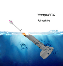 Waterproof Rechargeable Electric Toothbrush Tooth Whitening With Brush Heads Replacement Teeth Whitener Cleaning Oral Hygiene