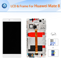Original LCD for Huawei Mate 8 LCD display touch screen digitizer glass assembly frame 6 inch screen gold black white+tools+film