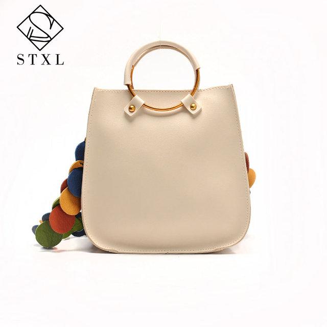 STXL 2pcs Handbag Small Composite PU Top-Handle Bags Leather Women's Handbags red Messenger bag STXLB001