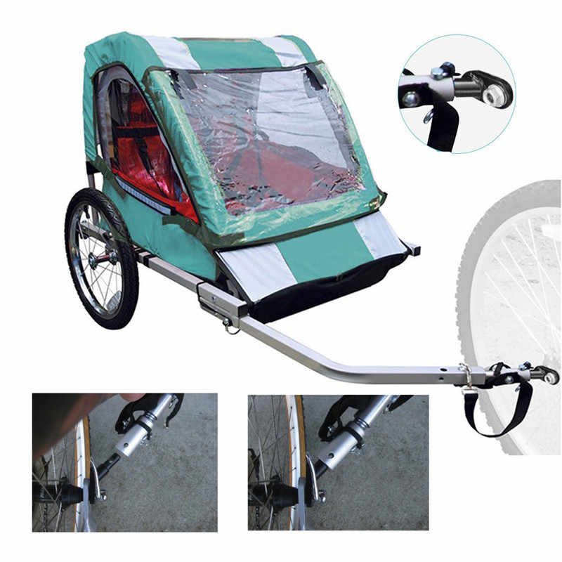 Bike Trailer Steel Linker Bicycle Trailer Classic Hitch Universal Model Baby Pet Coupler Hitch LinkerTrailer Hitch Adapter New