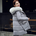 Winter New Fashion Warm Cotton-padded Hooded Thicken Nagymaros Collar Irregular Hem Long Coat  Slim Wild Parkas Femme Outerwear
