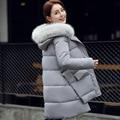 Winter New Fashion Warm Cotton-padded Hooded Thicken Nagymaros Collar Irregular Hem Long Coat  Slim Wild Parkas Femme Outerwear