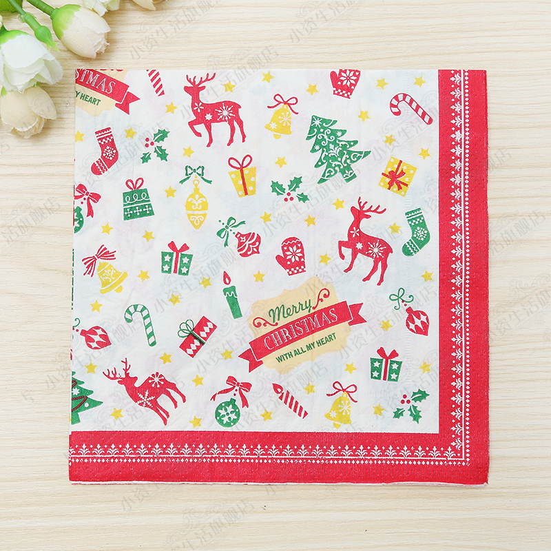 Festive & Party Supplies Persevering Free Shipping 20pcs/pack 33x33cm Christmas Theme Paper Napkins Printed Paper Napkins Merry Christmas Party Table Decoration Event & Party