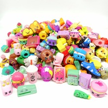 20Pcs/lot Popular Cartoon Shop Action Figures for Family Fruit Kins Shopping Dolls Kid's Birthday Gift Playing Toys Mixed Season