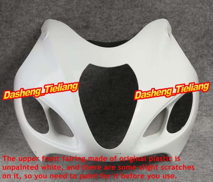New Unpainted Motor Upper Front Fairing Cowl Nose Fits for Suzuki 1999-2007 GSX1300R GSXR1300 HAYABUSA, Motorcycle Spare Part black headlight for suzuki hayabusa 1300 gsx1300r 1999 2007 front brand new motorcycle clear light lamp from china