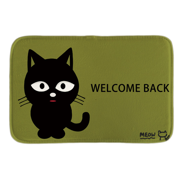 aliexpress com buy meow welcome back by the cat decorativemeow welcome back by the cat decorative indoormat soft door mat short plush bathroom floor mats green carpets
