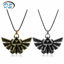 The Legend of Zelda Triforce Pendants&Necklace Leather Rope Colar Hot Game Jewelry Accessory for Women Man
