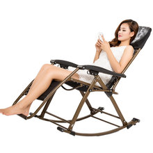 цены Household Leisure Deck Chair Foldable Multi-function Old People Chair Portable Balcony Garden Adjustable Angle Rocking Chair