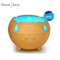 600ml Aroma Humidifier Air Diffusers 7 Color Mini Air Humidificador Wood Grian Aroma Diffuser Mini Nebulizer