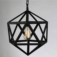Retro Pendant Lamps American Village Square Pendant Creative Living Room Light Loft Of The Quartet Iron