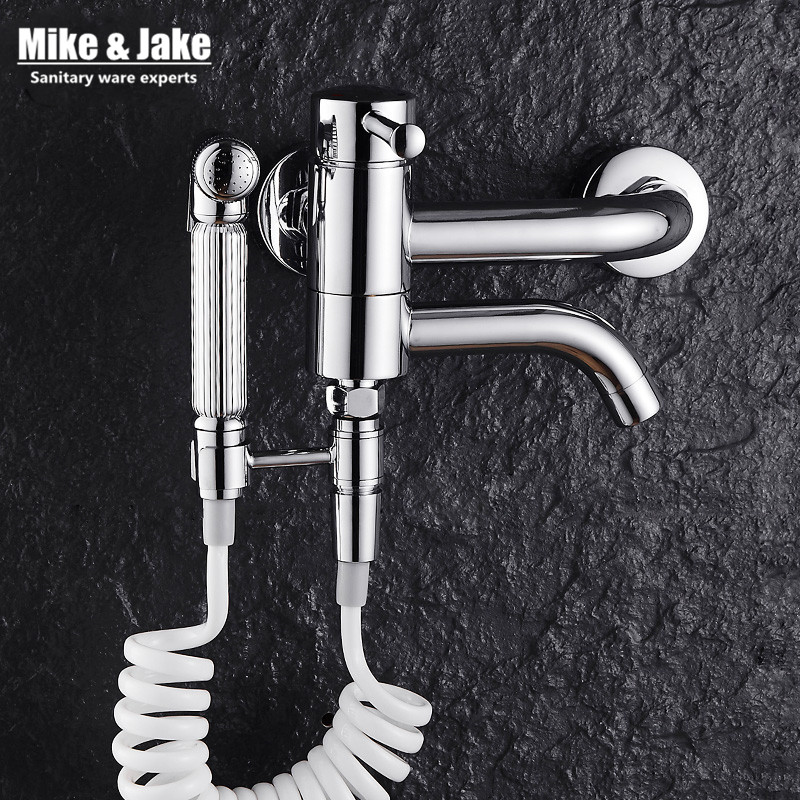 Bathroom bidet shower mixer wall mounted bidet mixer faucet mop tap with shattaf set cold and hot bidet shower MJ5881 gappo classic chrome bathroom shower faucet bath faucet mixer tap with hand shower head set wall mounted g3260