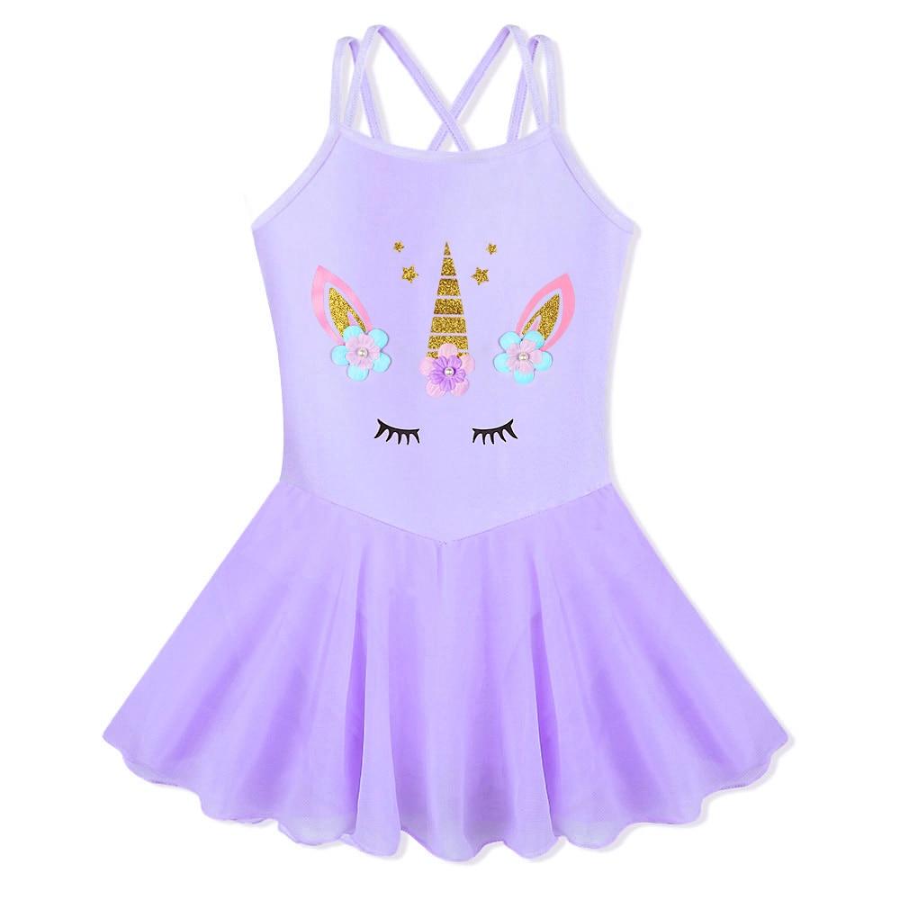 BAOHULU Kids Dance Wear Teens Girls Sleeveless Gymnastics Costume Toddler Child Ballet Leotard Dance Dress Unitards