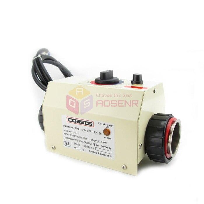 COASTS 220V 3KW Mini Water Heater Thermostat for Swimming Pool Bathtub SPA Bath