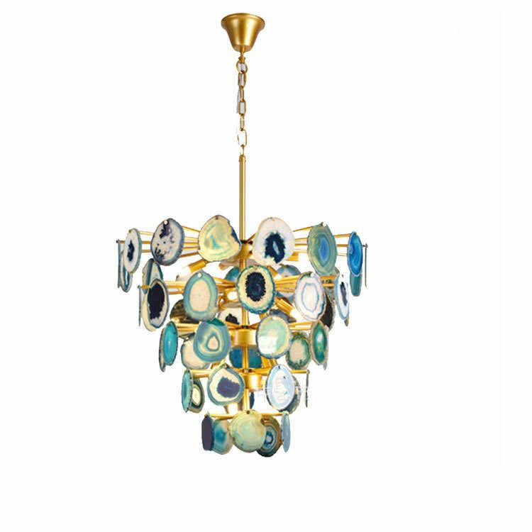 Агатовая люстра в скандинавском стиле креативный Ресторан постмодерн минималистическая индивидуальная ветка дерева люстра Светлячок