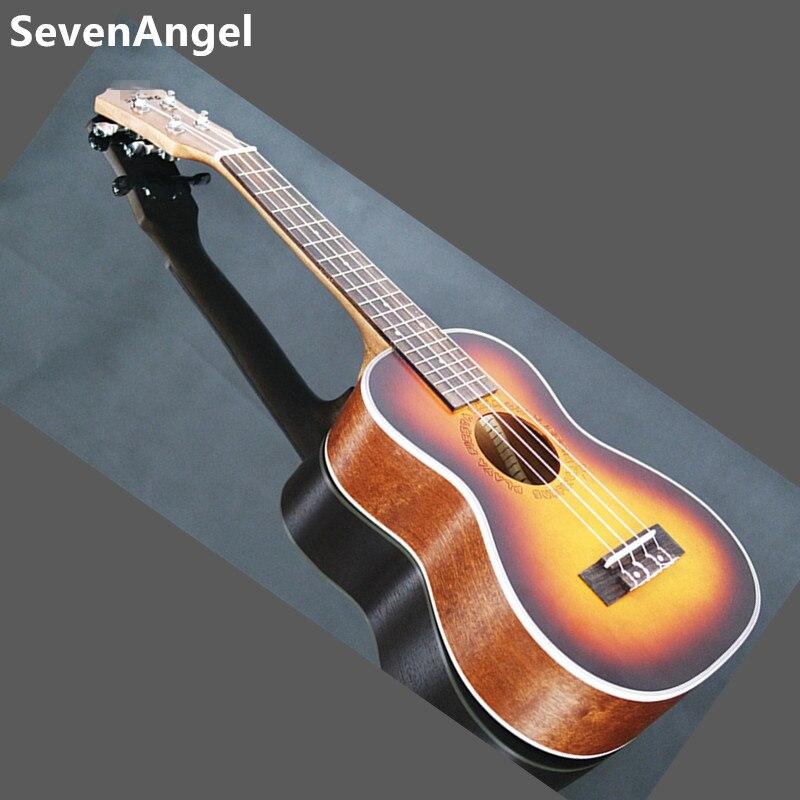 23 pouces palissandre touche ukulélé quatre cordes Aquila 17 Fret hawaïen ukelele acoustique guitare électrique coucher de soleil couleur pick-up - 2