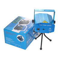 Laser Lighting Show Mini Projector R G DJ Disco Light For Xmas Party And New Year