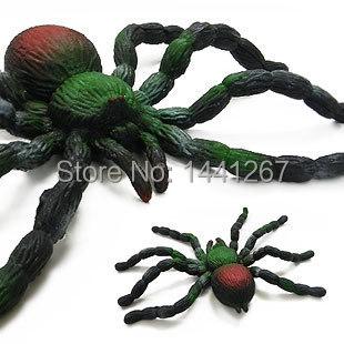 Children s font b toys b font spider simulation soft stretch soft spider spider Funny props