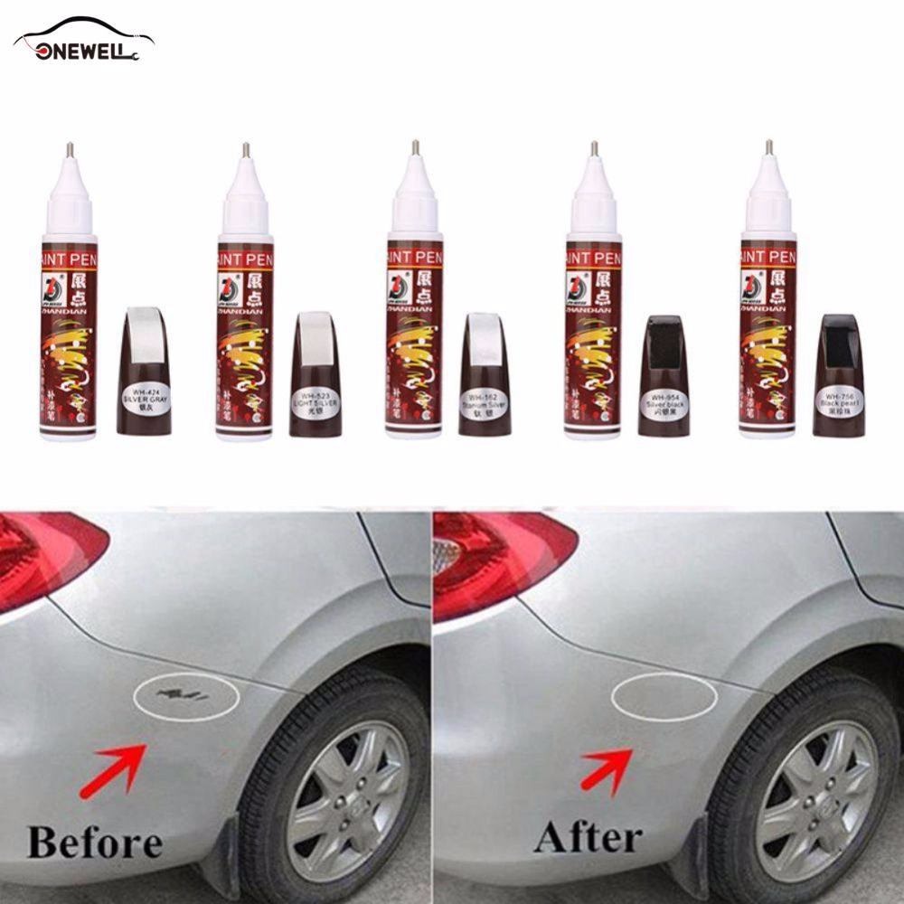 5 Color Colors Auto Car Coat Paint Pen Touch Up Scratch Repair Magic Repair Paint Pen For Cars