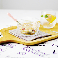 4 Inch Mini Best Clean Glass Mixing Terrarium Bowl Dessert Dips Candy Dishes Salad Emboss Serving