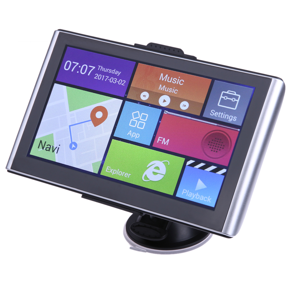 7Quad Core GPS Android CPU Car Navigator Bluetooth Wifi 8G 512M AV-in track  Bluetooth HD GPS Navigator with Car Video Recorder gps навигатор lexand sa5 hd