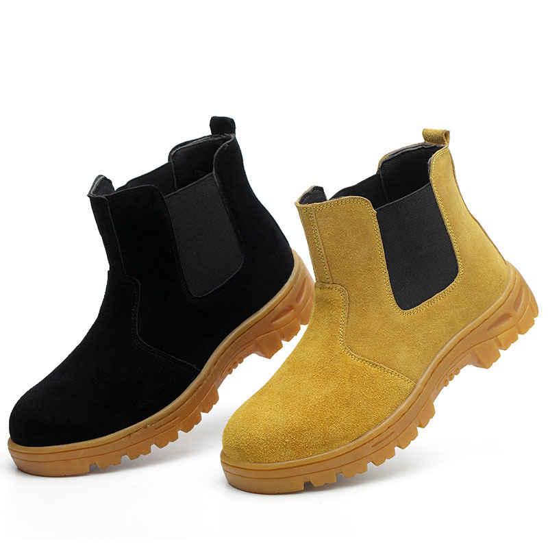 shoes men Work shoes boots Steel toe cap Anti-smashing anti-piercing Men Multifunction Protection Footwear Safety Shoes