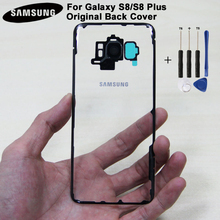 Samsung Back Cover Case for Samsung Galaxy S8 Plus G9500 SM-G950U SM-G9508 G9550 SM-G9 SM-G955 G955 Transparent Glass Housing чехол для samsung galaxy s8 sm g955 sgp thin fit шампань