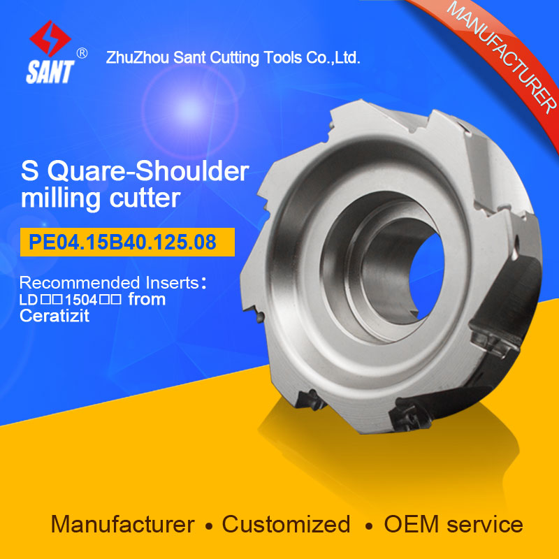 Indexable Milling cutter SANT PE04.15B40.125.08 with APKT11T3 carbide insert for Walter  цены