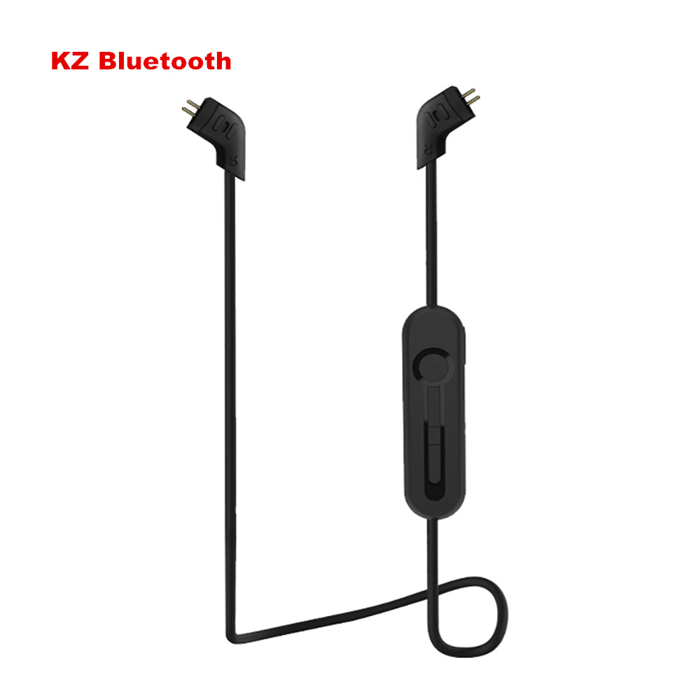 Newest Original KZ ZST/ZS5/ZS3/ED12 Bluetooth Cable 4.1 Wireless Advanced Upgrade Module 85cm Cable For KZ Earphones pair of stylish cart and letters pendants earrings for women