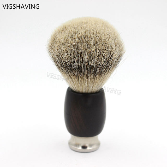 Ebony Wood Handle Silvertip Badger hair Shaving Brush
