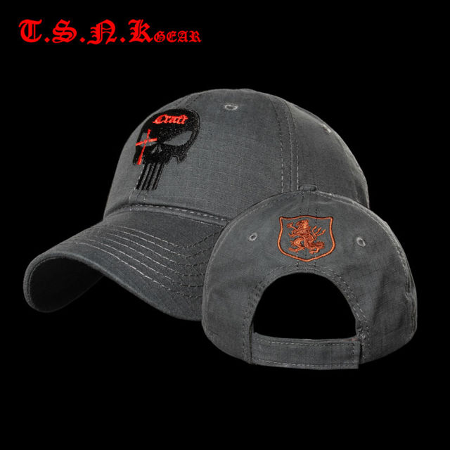 TSNK Men Women Tactical Amercian Punisher SEAL Team Cotton Running Hat  Adjusted Snapback Baseball Cap Box f94a51f319ee