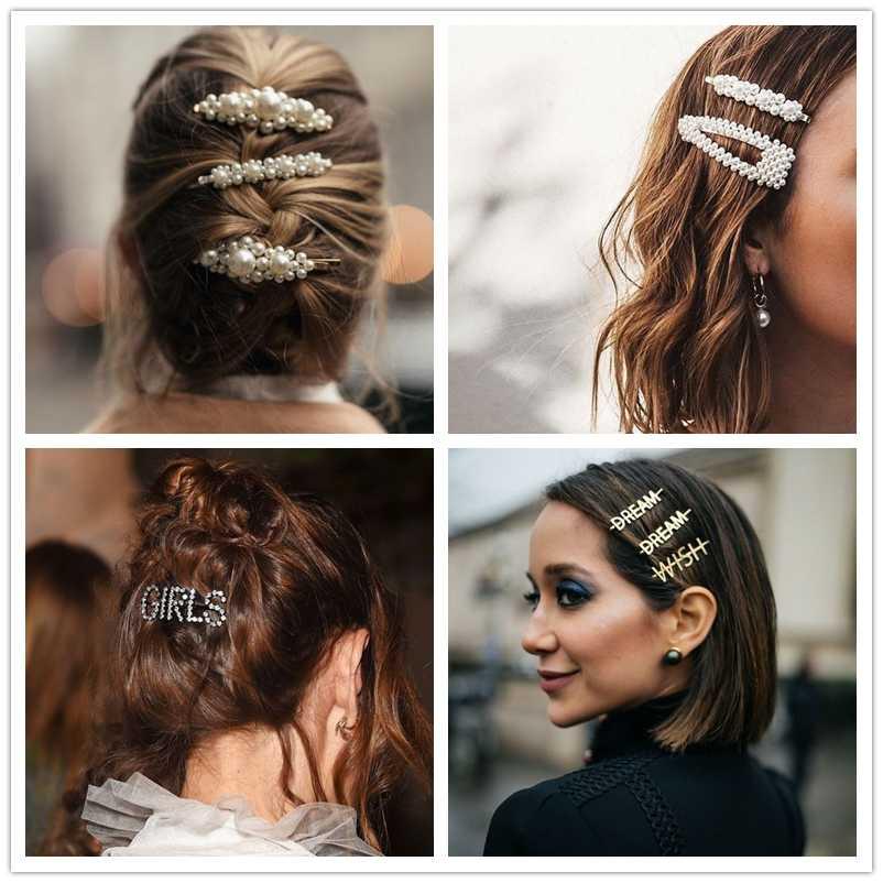 JUJIA Za Pearl Hair clips For Women Girls Hair pins Barrette Hair grip Pins Hair Clips Wedding Accessories ZA JEWELRY