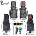 KEYECU 315 / 433MHz Smart 2 2 + 1 3 3 + 1 4 bouton télécommande voiture porte-clés pour Mercedes Benz Support NEC et BGA 2000 + année  705 Moto