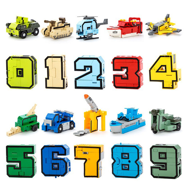 GUDI 2086 Transformer Number Robot Bricks 10 in 1 23